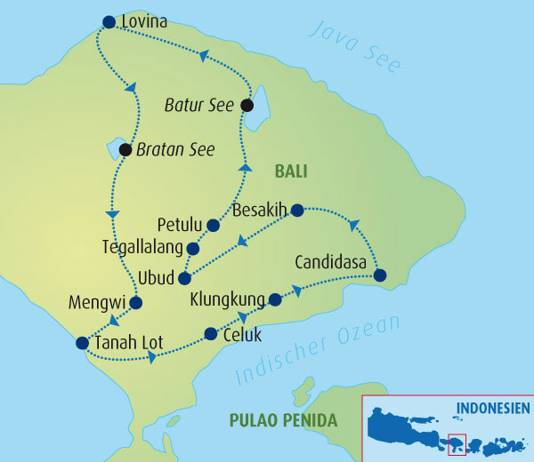 Bali-karte