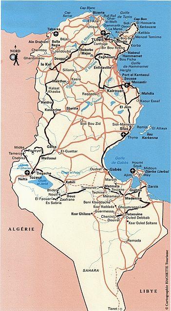 Tunesien 2011 Reiseroute