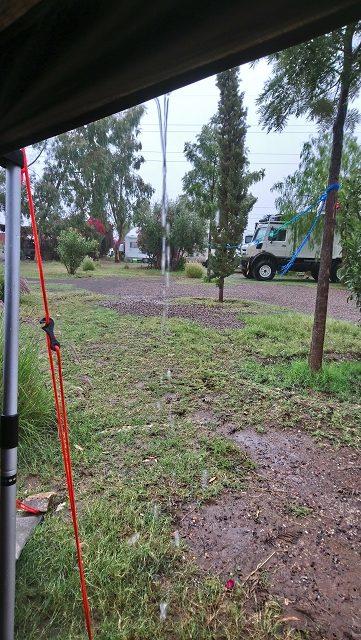 Regen am Campingplatz